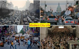 modern city life